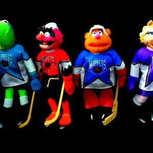 Complete Set of 4 McDonald's MUPPET HOCKEY TOYS